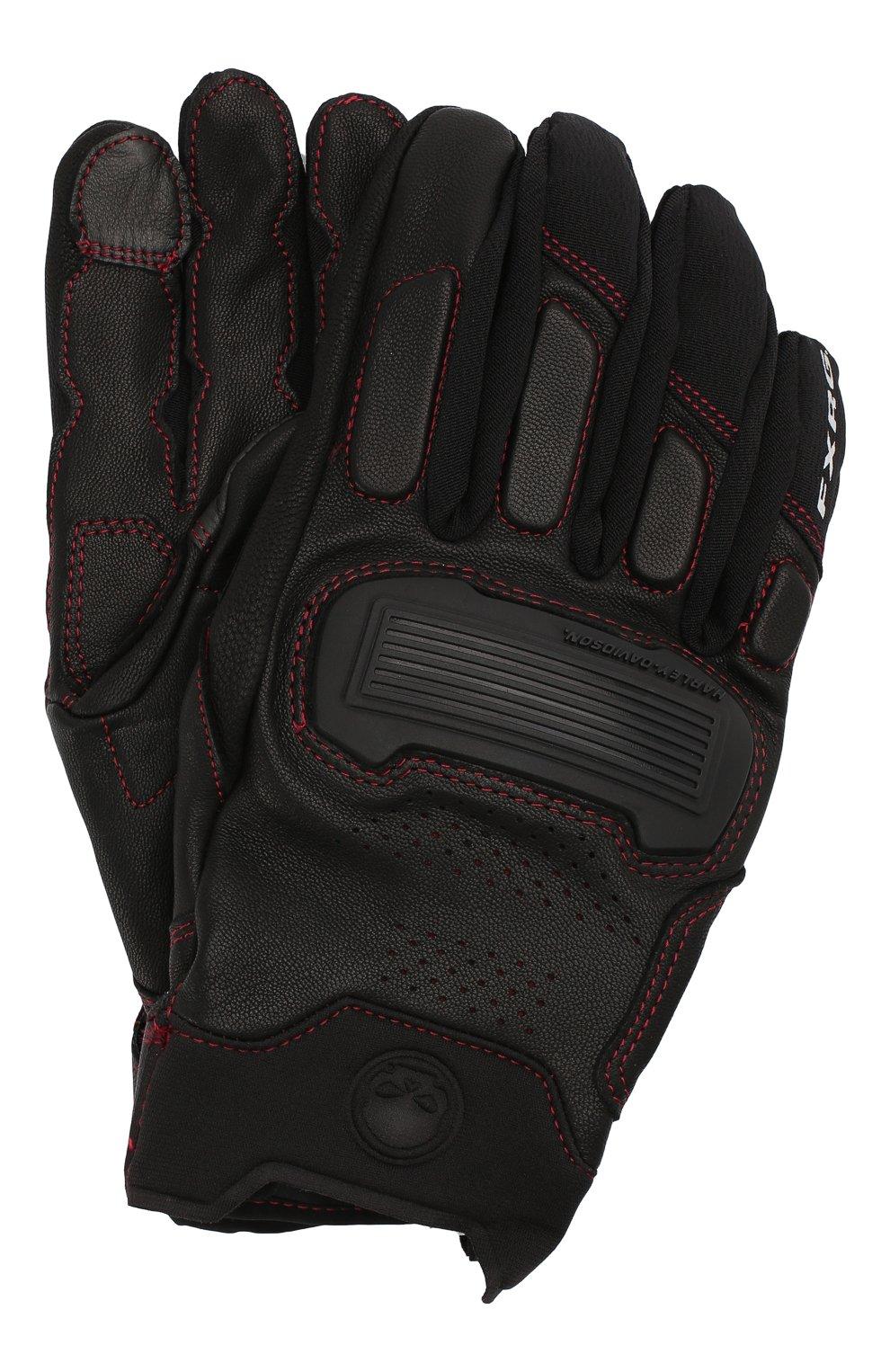Мужские комбинированные перчатки fxrg HARLEY-DAVIDSON черного цвета, арт. 98296-20VM | Фото 1
