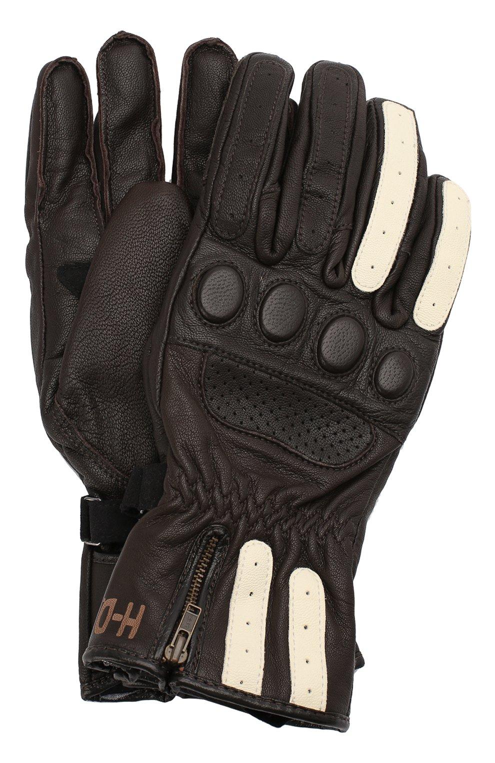 Мужские кожаные перчатки genuine motorclothes HARLEY-DAVIDSON темно-коричневого цвета, арт. 97353-17EM | Фото 1