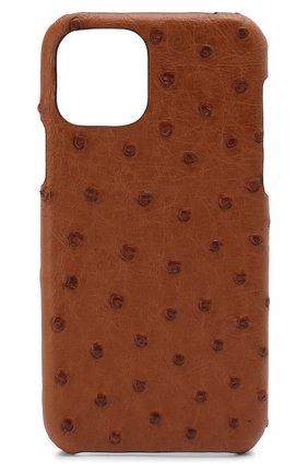 Мужской чехол для iphone 11 pro 2MESTYLE коричневого цвета, арт. DD313 | Фото 1