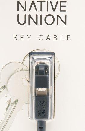 Мужской брелок с зарядным кабелем key cable NATIVE UNION синего цвета, арт. KEY-KV-L-IND | Фото 3