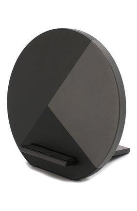 Мужская беспроводное зарядное устройство dock marquetry NATIVE UNION серого цвета, арт. DOCK-WL-MARQ-GRY | Фото 1
