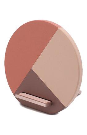 Мужская беспроводное зарядное устройство dock marquetry NATIVE UNION розового цвета, арт. DOCK-WL-MARQ-ROSE | Фото 1