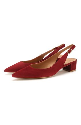 Женская замшевые туфли MANSUR GAVRIEL бордового цвета, арт. FSB053SU | Фото 1