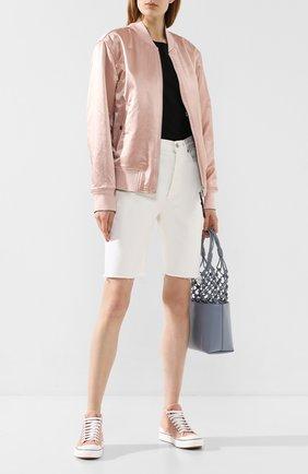 Женские текстильные кеды lace STELLA MCCARTNEY светло-розового цвета, арт. 800030/N0046 | Фото 2