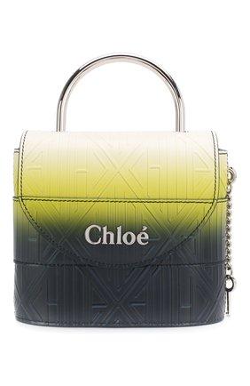 Женская сумка aby lock CHLOÉ синего цвета, арт. CHC20SS220C41   Фото 1