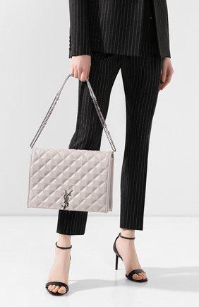 Женская сумка becky SAINT LAURENT светло-серого цвета, арт. 579604/1D312 | Фото 2