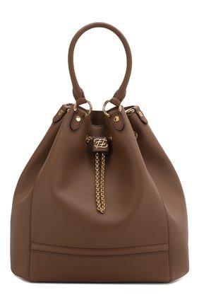 Женская сумка chain bucket FENDI коричневого цвета, арт. 8BT322 AAJ1 | Фото 1