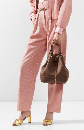 Женская сумка chain bucket FENDI коричневого цвета, арт. 8BT322 AAJ1 | Фото 2