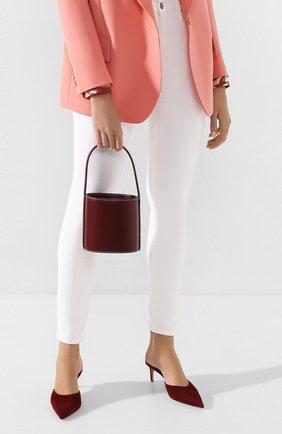 Женская сумка bisset mini STAUD бордового цвета, арт. 07-9115 | Фото 2