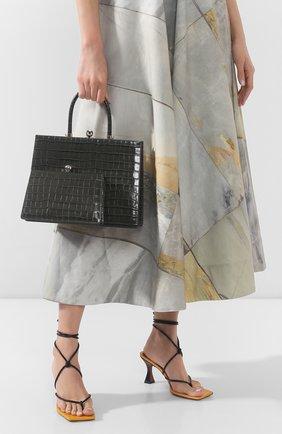 Женская сумка twin frame RATIO ET MOTUS серого цвета, арт. REM20SSTFFGC-SL | Фото 2