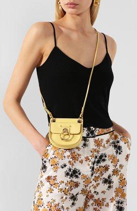 Женская сумка tess mini CHLOÉ желтого цвета, арт. CHC20UP501A37   Фото 2