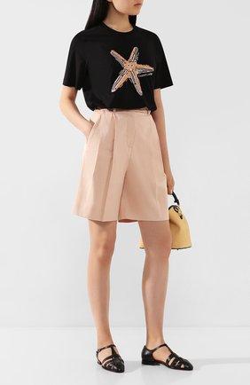 Женские кожаные сандалии SANTONI черного цвета, арт. WUSM58748BI3CUNPN01 | Фото 2
