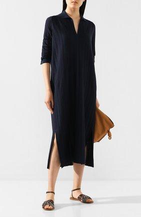 Женские кожаные сандалии BRUNELLO CUCINELLI коричневого цвета, арт. MZSLC1779   Фото 2