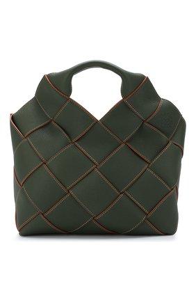 Женская сумка woven LOEWE хаки цвета, арт. 321.12.L62 | Фото 1