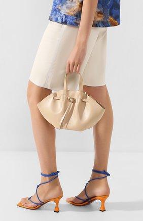 Женская сумка lynne mini NANUSHKA кремвого цвета, арт. MINI LYNNE_S0IA_LEATHER | Фото 2