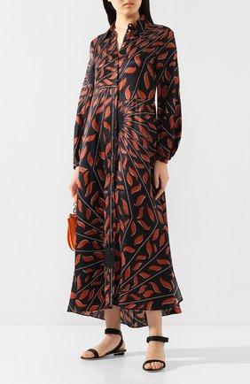 Женские текстильные сандалии DSQUARED2 черного цвета, арт. FSW0032 02580360   Фото 2