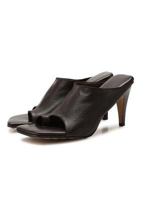 Женские кожаные мюли BOTTEGA VENETA коричневого цвета, арт. 618760/VBS00 | Фото 1