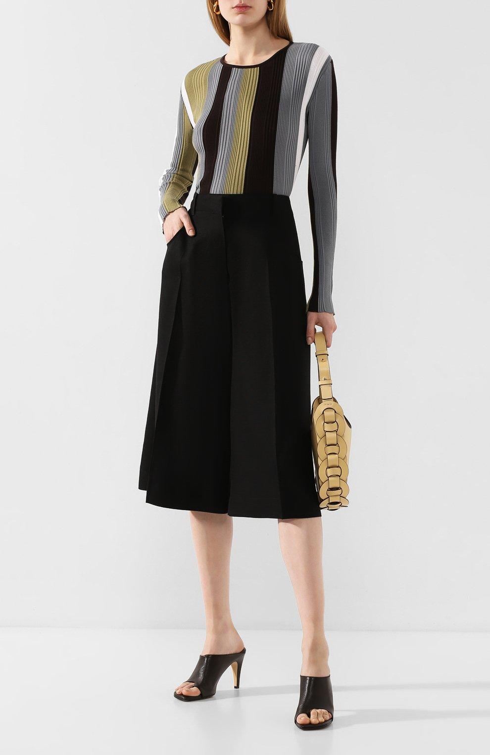 Женские кожаные мюли BOTTEGA VENETA коричневого цвета, арт. 618760/VBS00 | Фото 2
