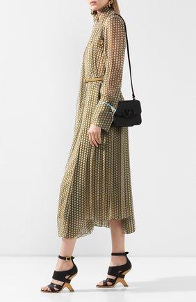 Женские кожаные босоножки ALEXANDER MCQUEEN черного цвета, арт. 621839/WHXZ7 | Фото 2