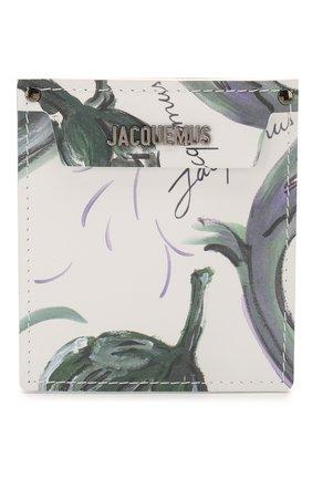 Женский кожаный футляр le porte poche для кредитных карт  JACQUEMUS зеленого цвета, арт. 205AC20/5853S | Фото 1