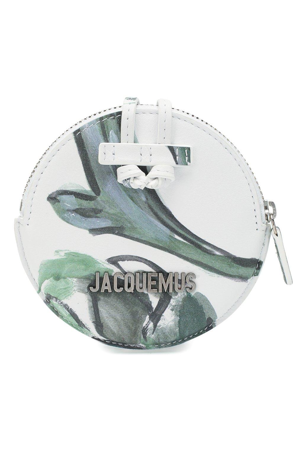 Женские кожаный кошелек для монет le pitchou JACQUEMUS зеленого цвета, арт. 205AC22/5853S | Фото 1