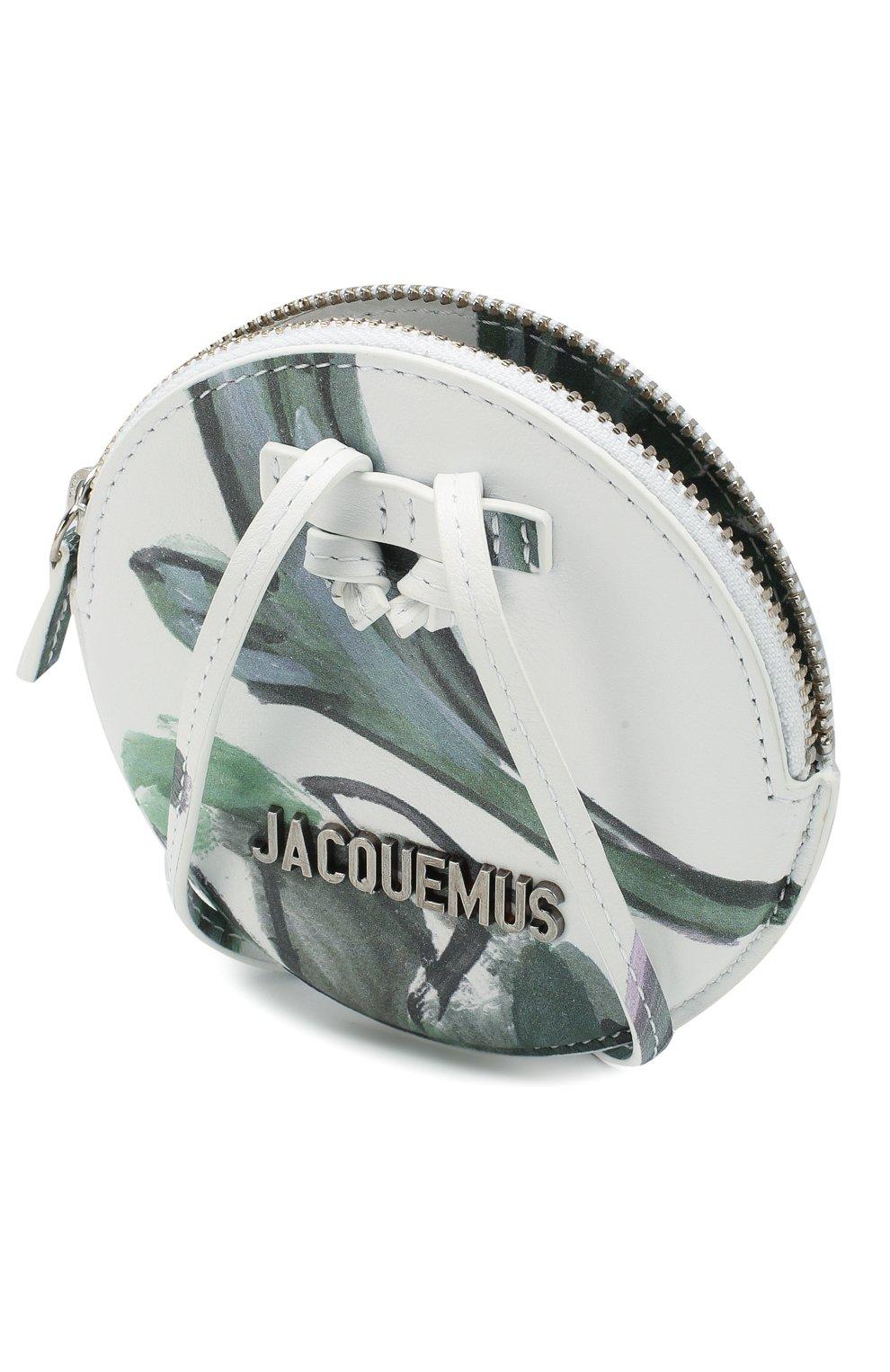 Женские кожаный кошелек для монет le pitchou JACQUEMUS зеленого цвета, арт. 205AC22/5853S | Фото 3