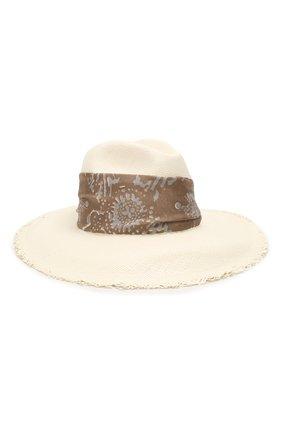 Женская соломенная шляпа BRUNELLO CUCINELLI белого цвета, арт. MCAP90117   Фото 1