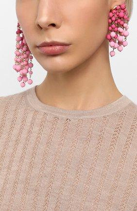 Женские серьги les mimosas JACQUEMUS розового цвета, арт. 201JW11   Фото 2
