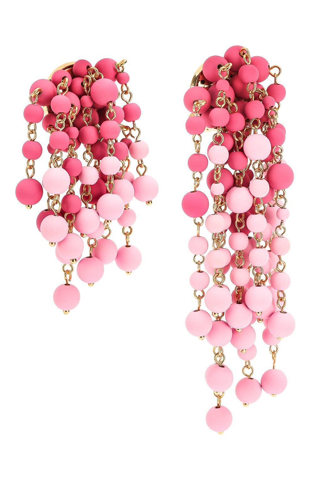 Женские серьги les mimosas JACQUEMUS розового цвета, арт. 201JW11   Фото 3