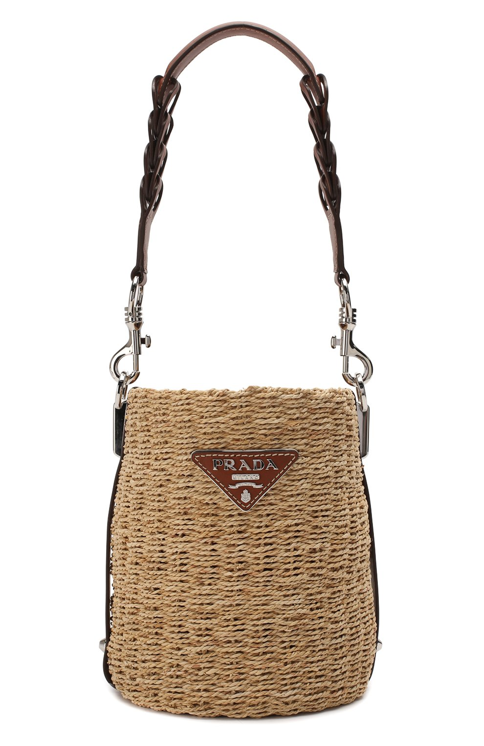 Женская сумка bucket PRADA бежевого цвета, арт. 1BE052-2DJD-F0A5T-OOO | Фото 1