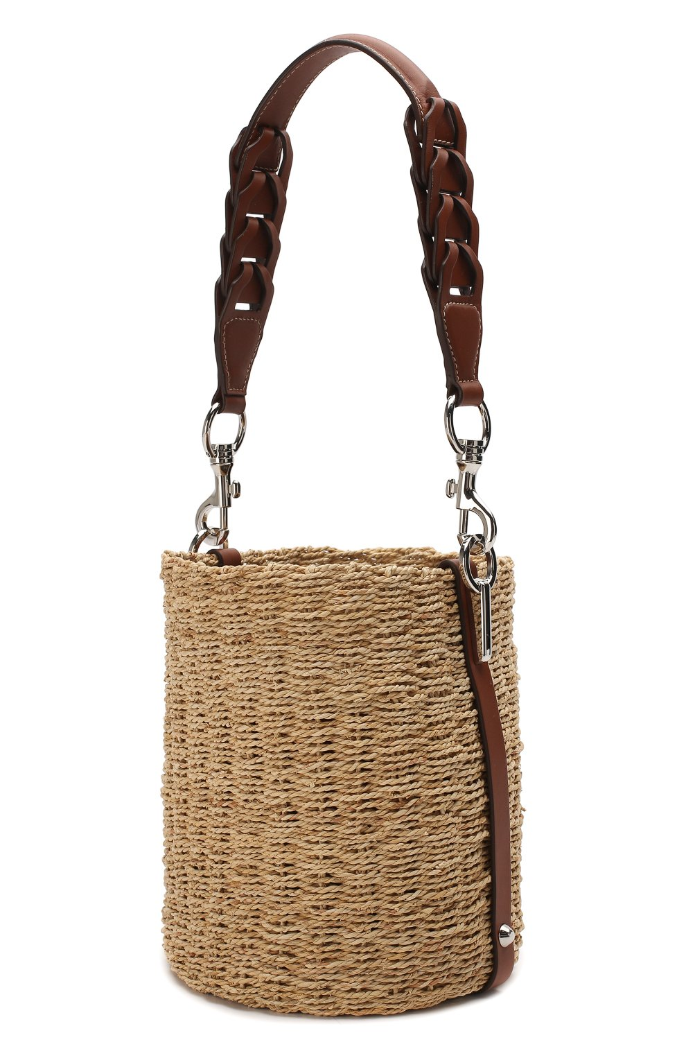 Женская сумка bucket PRADA бежевого цвета, арт. 1BE052-2DJD-F0A5T-OOO | Фото 3