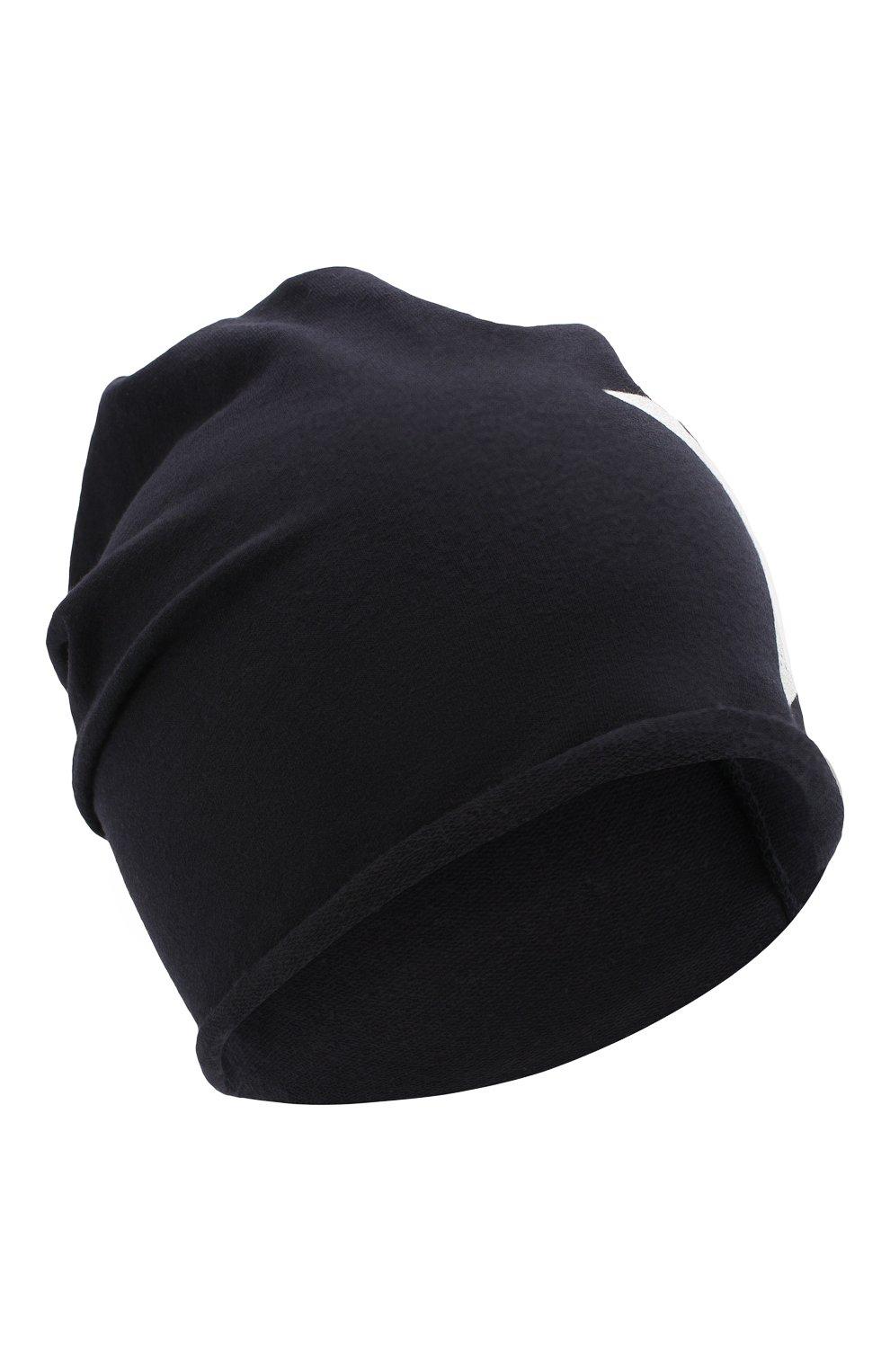Детского хлопковая шапка CATYA темно-синего цвета, арт. 014083   Фото 1