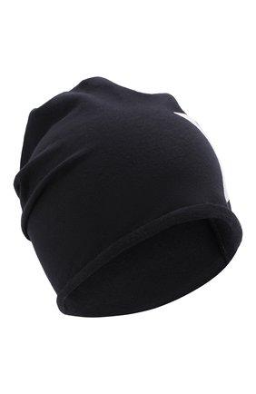 Детского хлопковая шапка CATYA темно-синего цвета, арт. 014083 | Фото 1