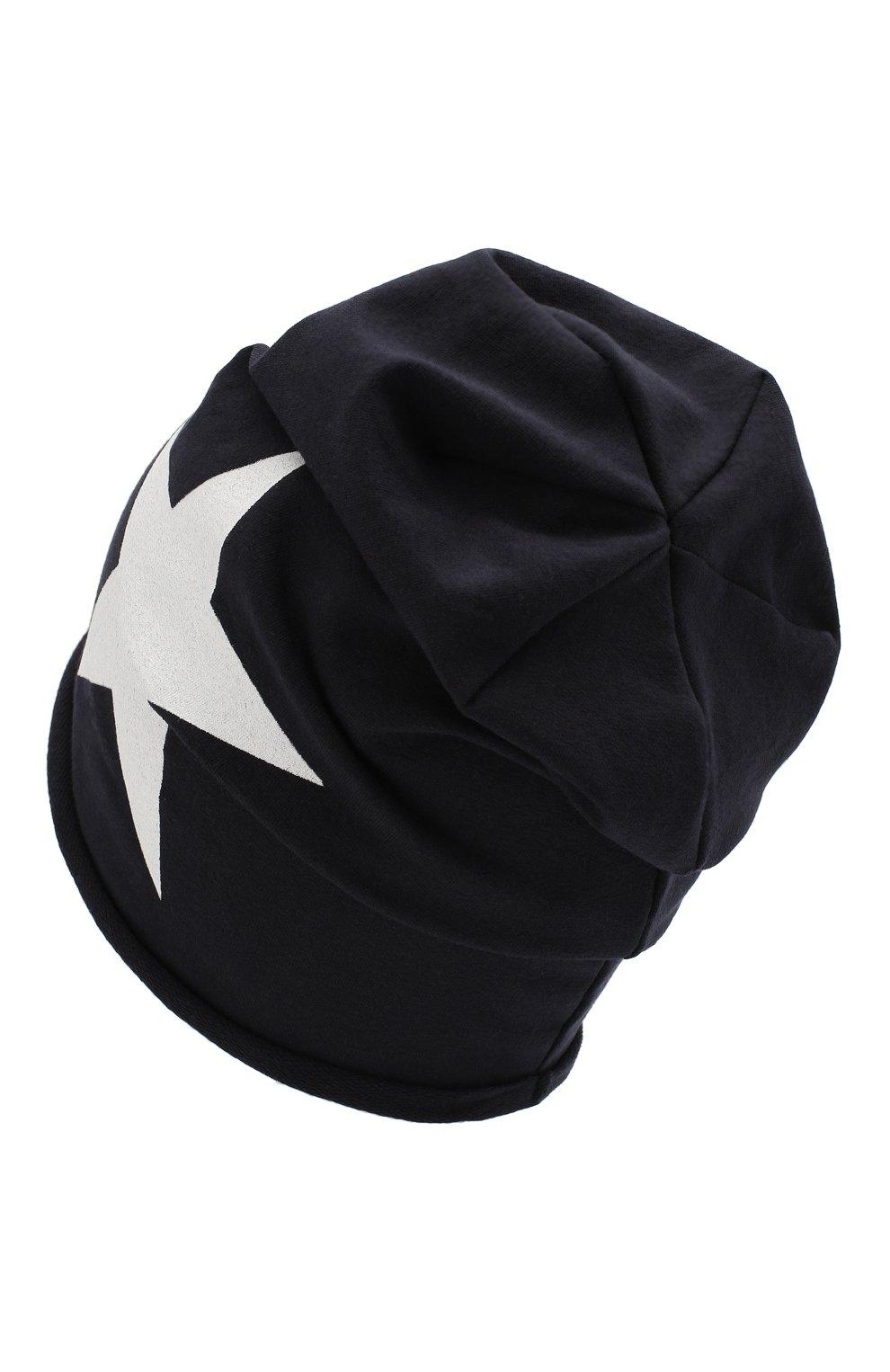 Детского хлопковая шапка CATYA темно-синего цвета, арт. 014083   Фото 2