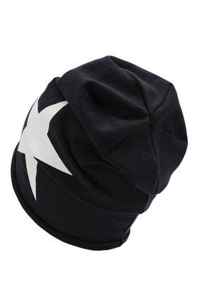 Детского хлопковая шапка CATYA темно-синего цвета, арт. 014083 | Фото 2