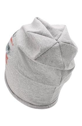 Детского хлопковая шапка CATYA серого цвета, арт. 014087 | Фото 2