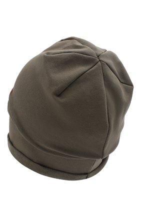 Детского хлопковая шапка CATYA хаки цвета, арт. 014088 | Фото 2