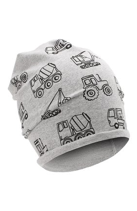 Детского хлопковая шапка CATYA серого цвета, арт. 014090 | Фото 1
