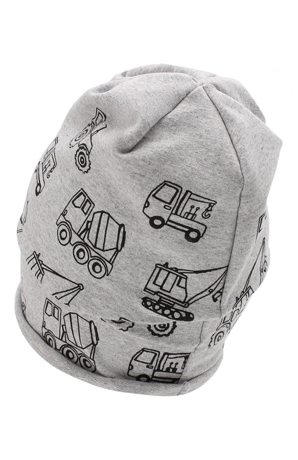 Детского хлопковая шапка CATYA серого цвета, арт. 014090   Фото 2