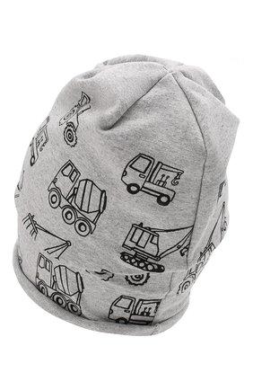 Детского хлопковая шапка CATYA серого цвета, арт. 014090 | Фото 2