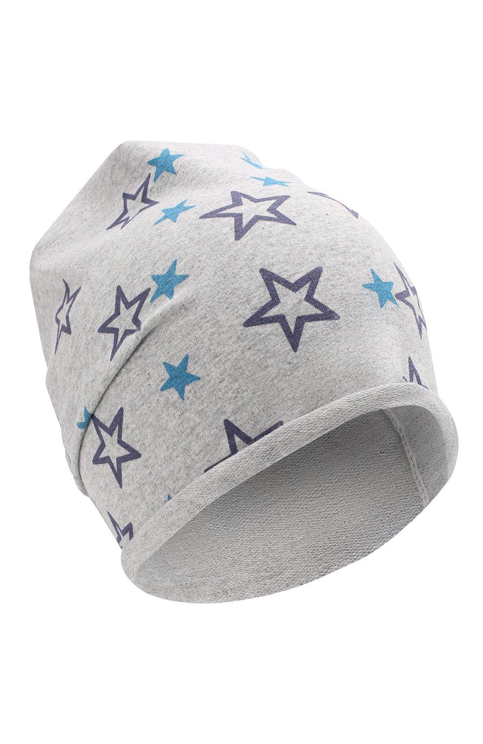 Детского хлопковая шапка CATYA серого цвета, арт. 014097 | Фото 1
