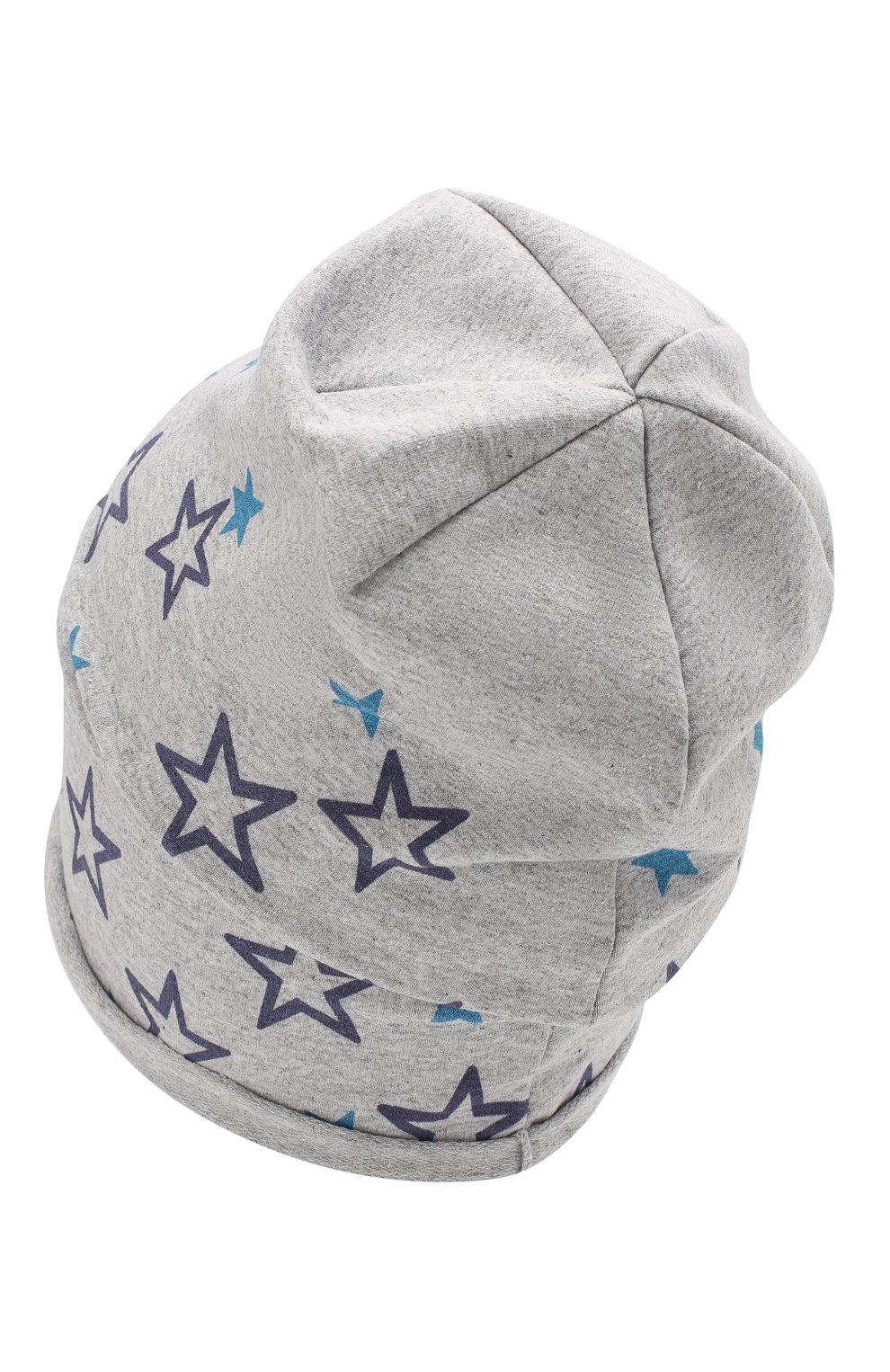 Детского хлопковая шапка CATYA серого цвета, арт. 014097 | Фото 2