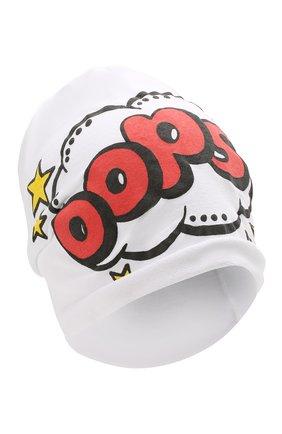 Детского хлопковая шапка CATYA белого цвета, арт. 014099 | Фото 1