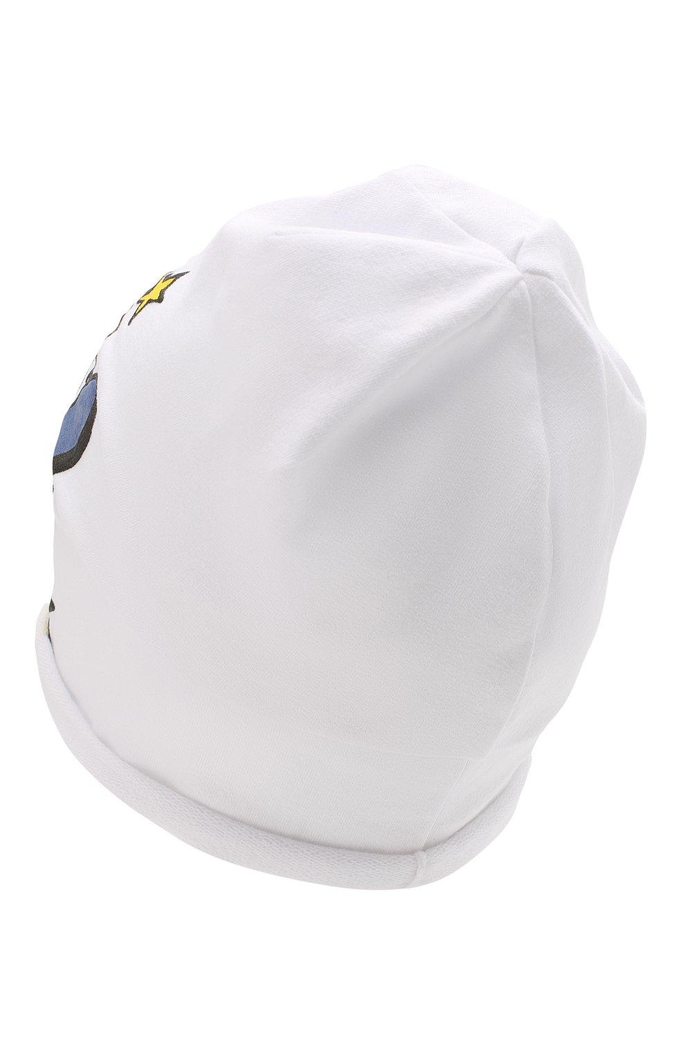Детского хлопковая шапка CATYA белого цвета, арт. 014099 | Фото 2