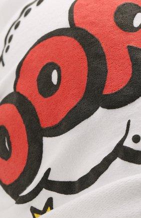 Детского хлопковая шапка CATYA белого цвета, арт. 014099 | Фото 3