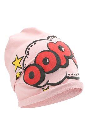 Детского хлопковая шапка CATYA розового цвета, арт. 014099 | Фото 1