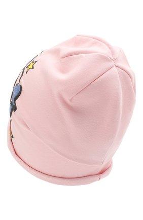 Детского хлопковая шапка CATYA розового цвета, арт. 014099 | Фото 2