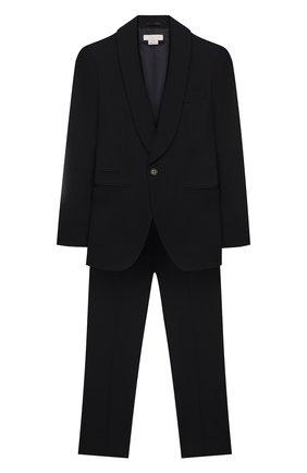 Детский костюм из пиджака и брюк STELLA MCCARTNEY черного цвета, арт. 600182/S0KG3 | Фото 1