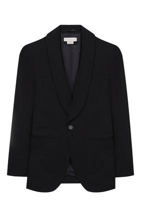 Детский костюм из пиджака и брюк STELLA MCCARTNEY черного цвета, арт. 600182/S0KG3 | Фото 2