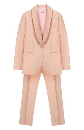 Детский костюм из жакета и брюк STELLA MCCARTNEY светло-розового цвета, арт. 600183/S0KF1 | Фото 1